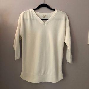 Talbots White 3/4 Sleeve Sweater